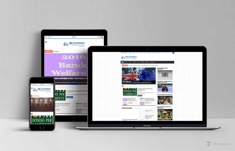 Federsolidarietà officinae agenzia lean digital marketing comunicazione matera milano sito web responsive