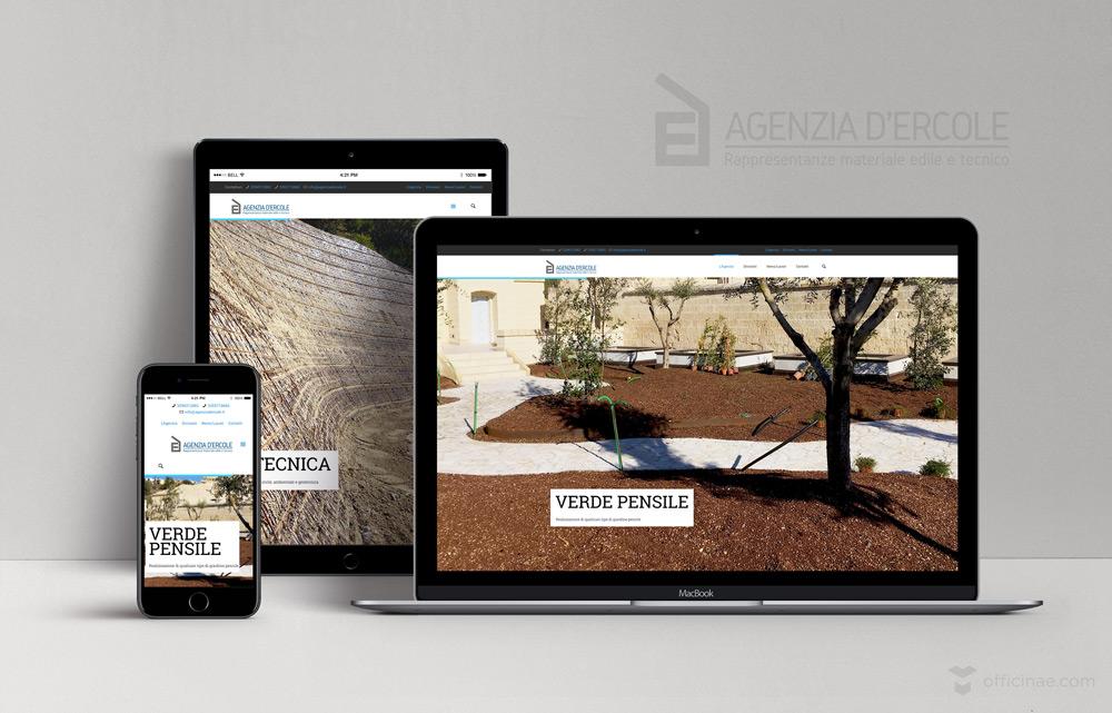 agenzia dercole materiali edilizia officinae lean digital marketing comunicazione matera milano sito web responsive