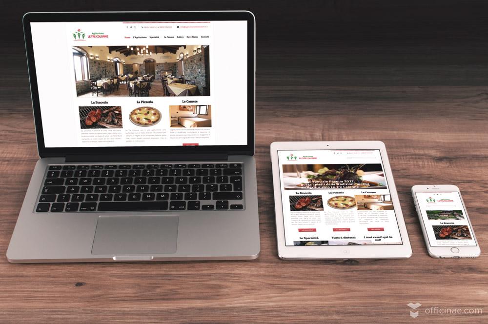 agriturismo le tre colonne officinae agenzia lean digital marketing comunicazione matera milano sito web responsive