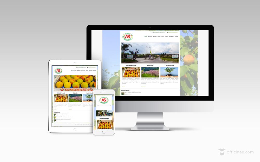 azienda agricola santamaria materiali edilizia officinae lean digital marketing comunicazione matera milano sito web responsive