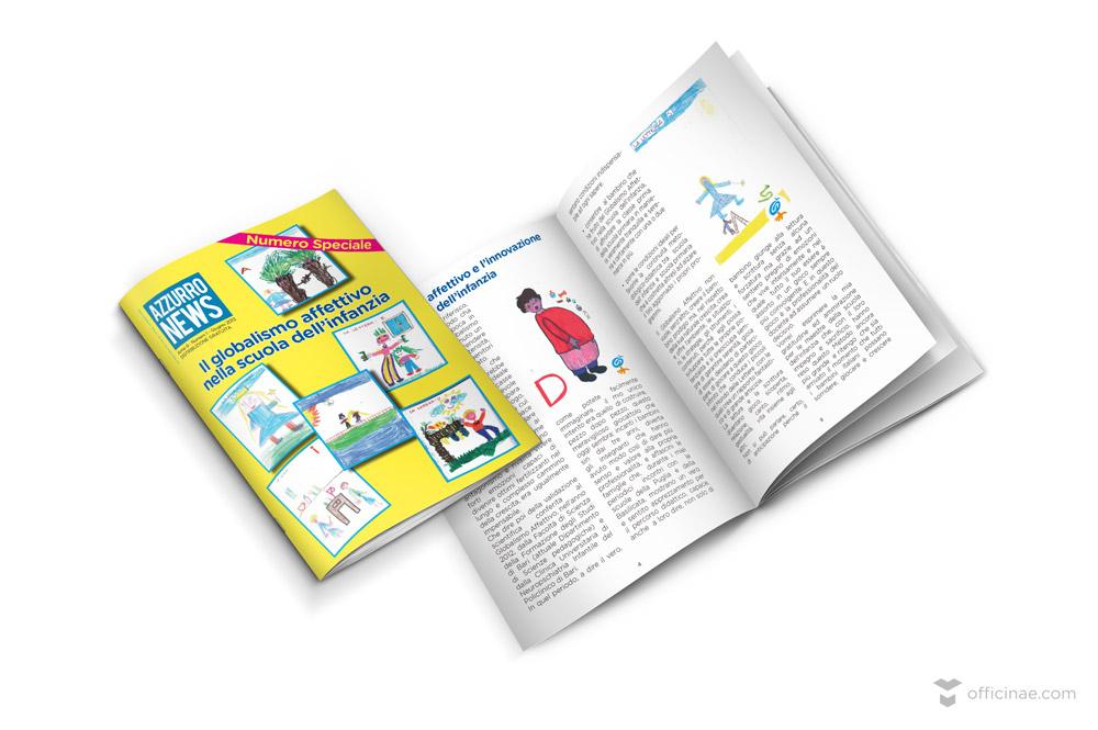 azzurrolandia azzurro news officinae agenzia lean digital marketing comunicazione matera milano brochure