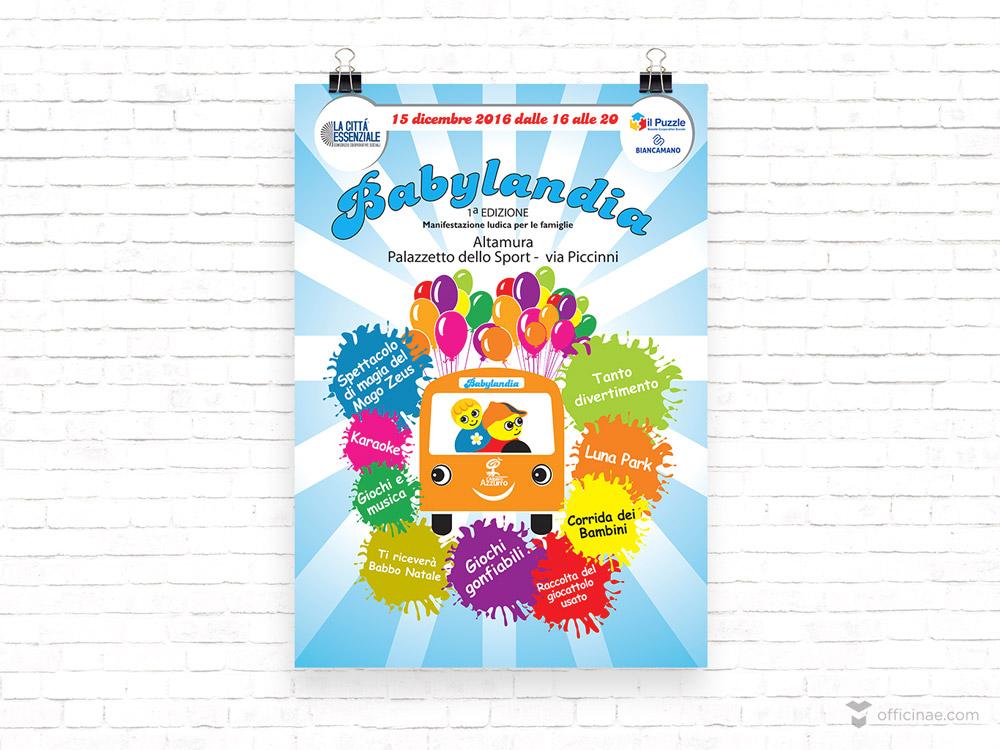 azzurrolandia officinae agenzia lean digital marketing comunicazione matera milano manifesto locandina