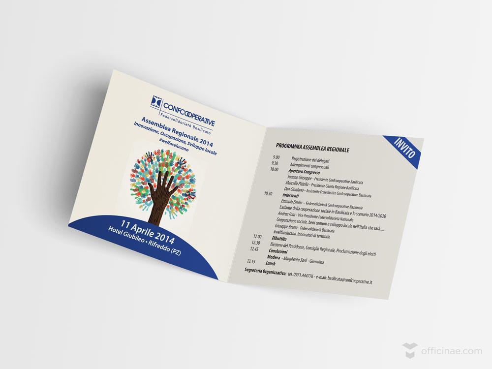 confcooperative officinae agenzia lean digital marketing comunicazione matera milano evento brochure