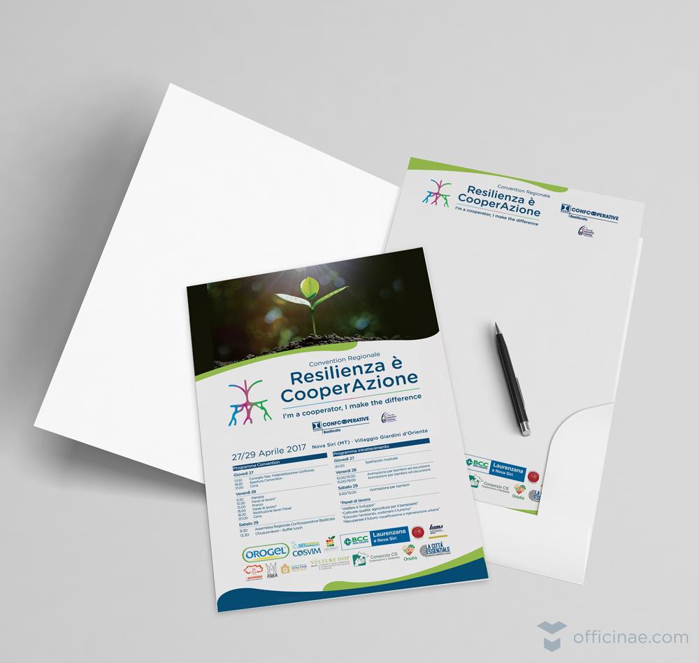 confcooperative officinae agenzia lean digital marketing comunicazione matera milano evento cartellina