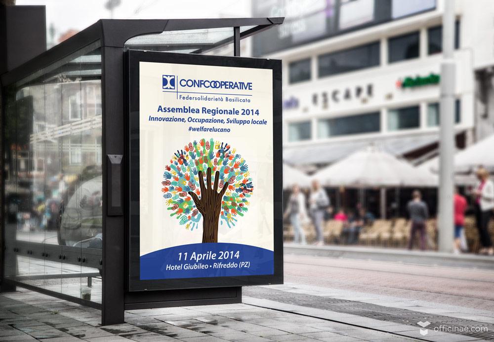 confcooperative officinae agenzia lean digital marketing comunicazione matera milano evento manifesto 70x100