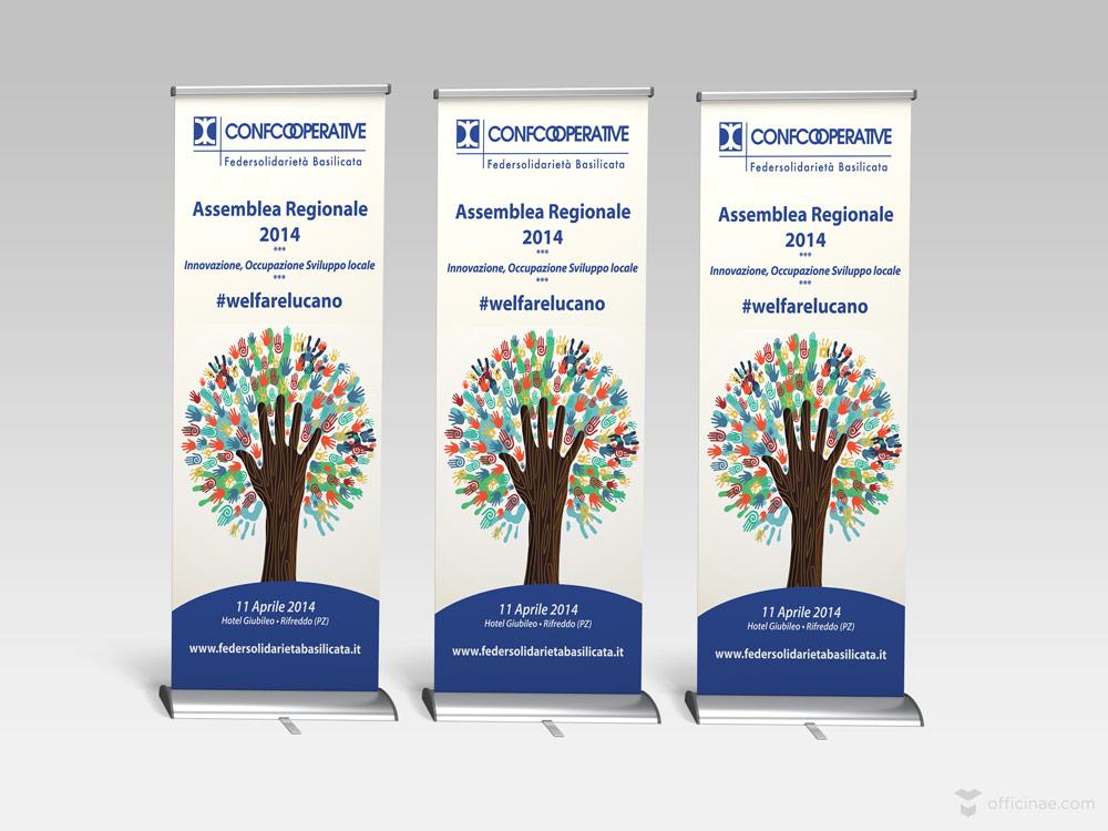 confcooperative officinae agenzia lean digital marketing comunicazione matera milano evento roll up