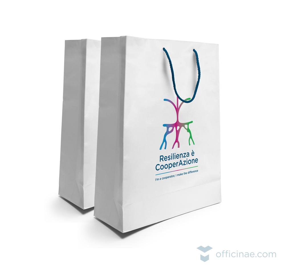confcooperative officinae agenzia lean digital marketing comunicazione matera milano evento shopping bag