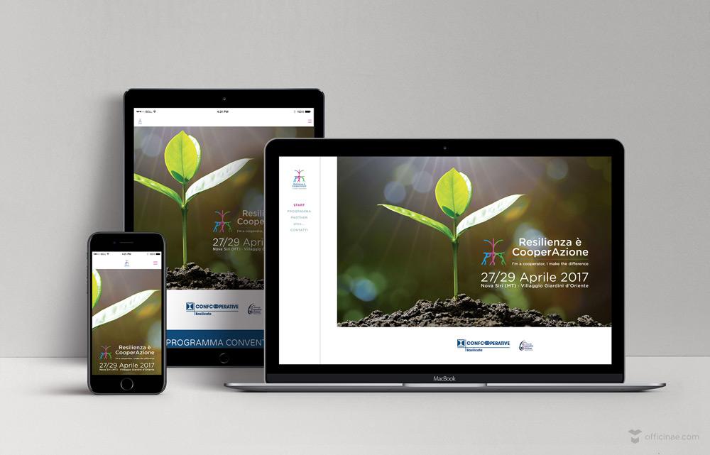 confcooperative officinae agenzia lean digital marketing comunicazione matera milano sito web responsive