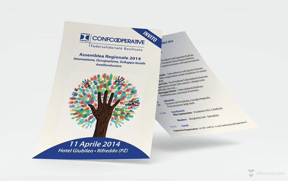 confcooperative officinae agenzia lean digital marketing comunicazione matera milano volantino pubblicitario