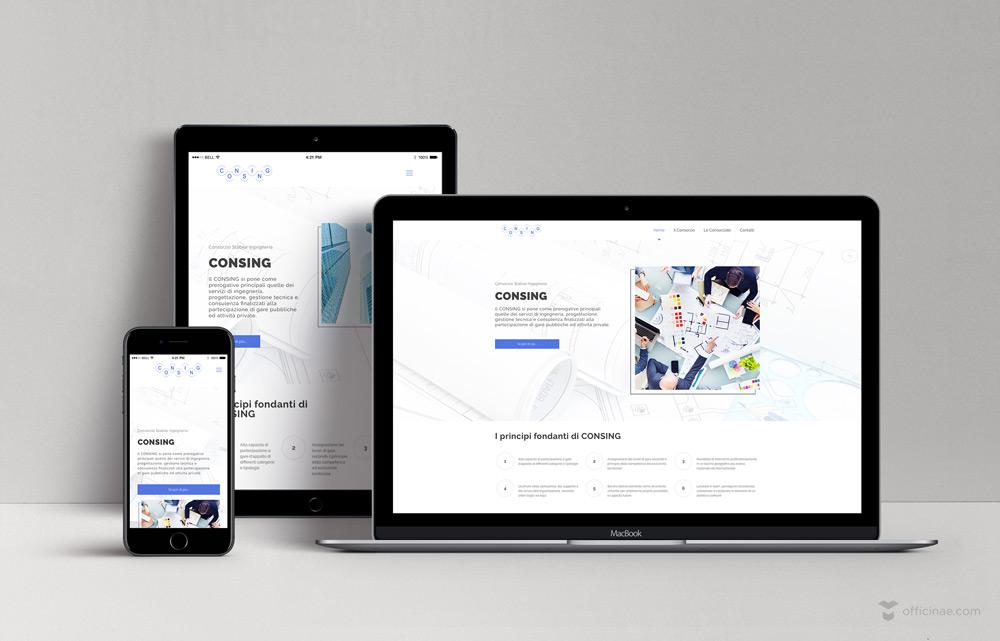 consing officinae agenzia lean digital marketing comunicazione matera milano sito web responsive