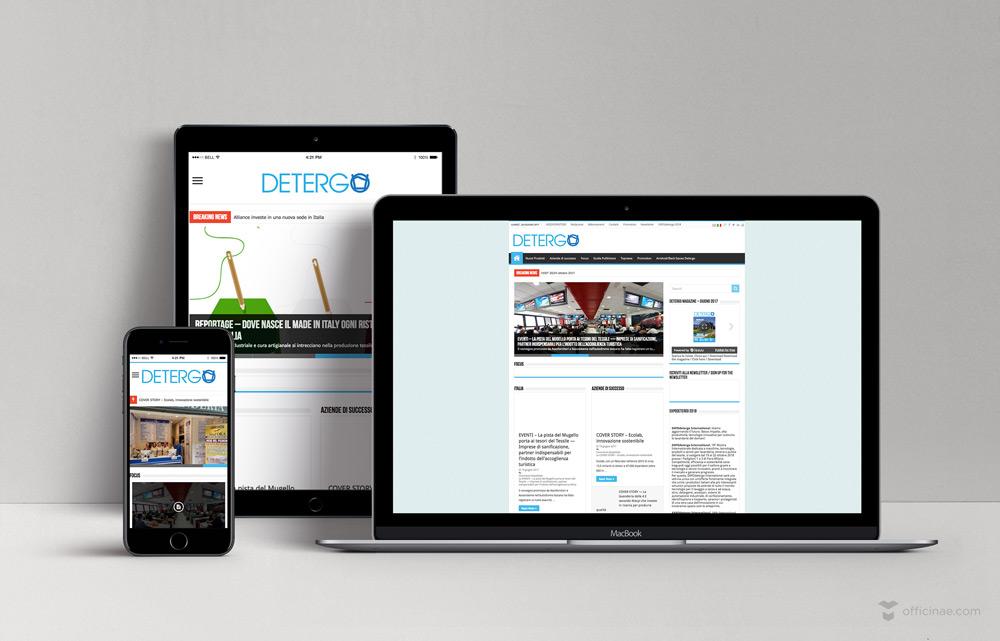 detergo officinae agenzia lean digital marketing comunicazione matera milano sito web responsive