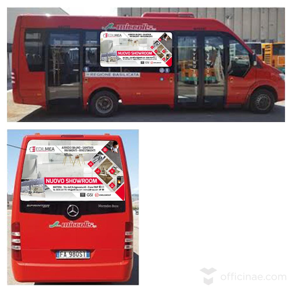 edilmea officinae agenzia lean digital marketing comunicazione matera milano campagna pubblicitaria bus