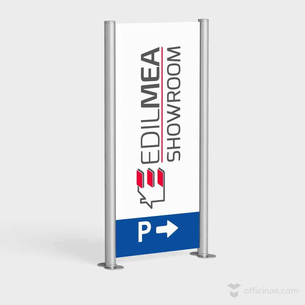 edilmea officinae agenzia lean digital marketing comunicazione matera milano pannello parcheggio