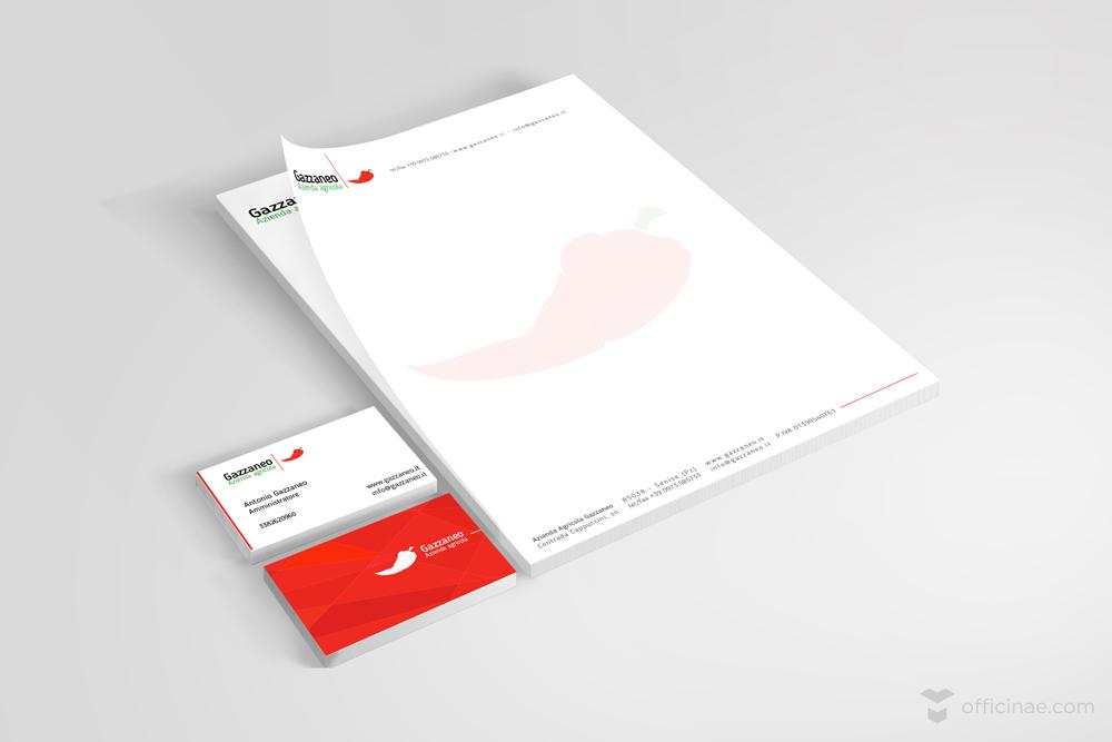 gazzaneo azienda agricola officinae agenzia lean digital marketing comunicazione matera milano carta intestata bigliettino da visita