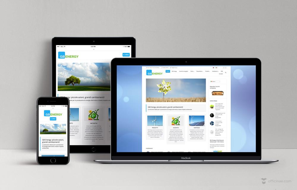 gb energy officinae agenzia lean digital marketing comunicazione matera milano sito web responsive