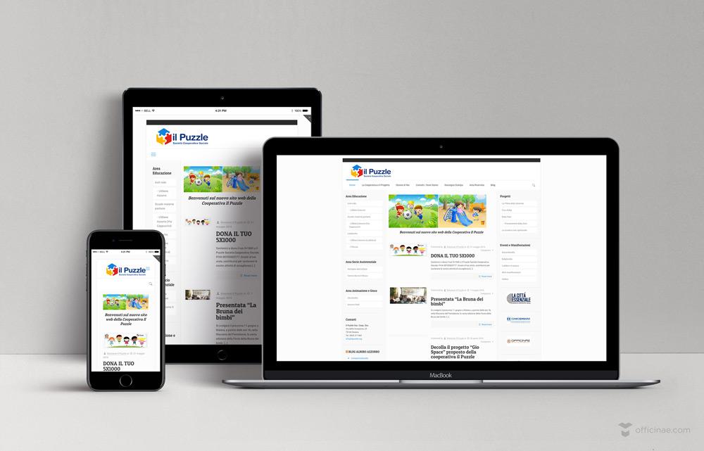 il puzzle officinae agenzia lean digital marketing comunicazione matera milano sito web responsive