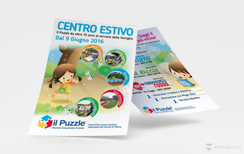 il puzzle officinae agenzia lean digital marketing comunicazione matera milano volantino pubblicitario
