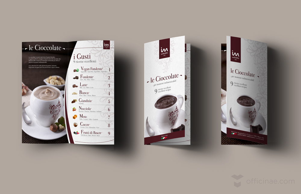 intensho tecnoblend officinae agenzia lean digital marketing comunicazione matera milano menu cioccolate calde
