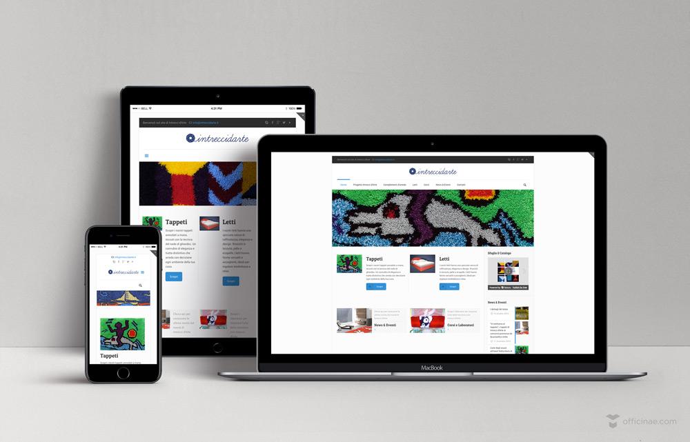 intreccidarte officinae agenzia lean digital marketing comunicazione matera milano sito web responsive
