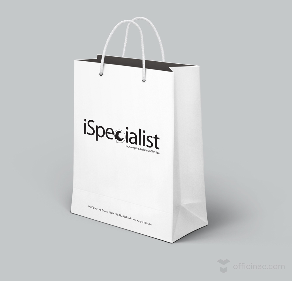 ispecialist officinae agenzia lean digital marketing comunicazione matera milano shopping bag
