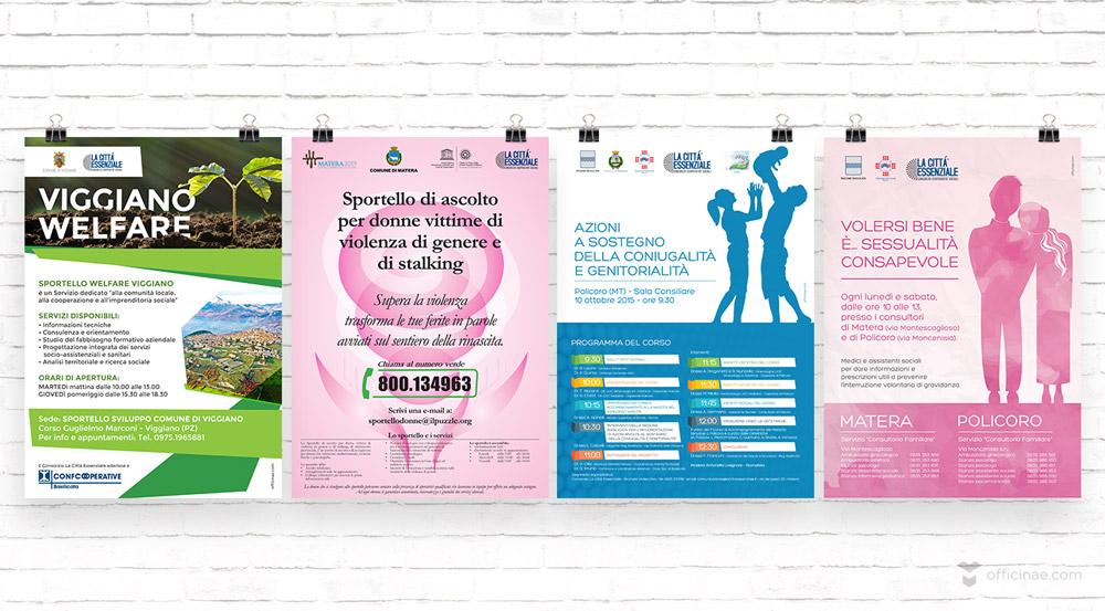 la città essenziale officinae agenzia lean digital marketing comunicazione matera milano manifesto