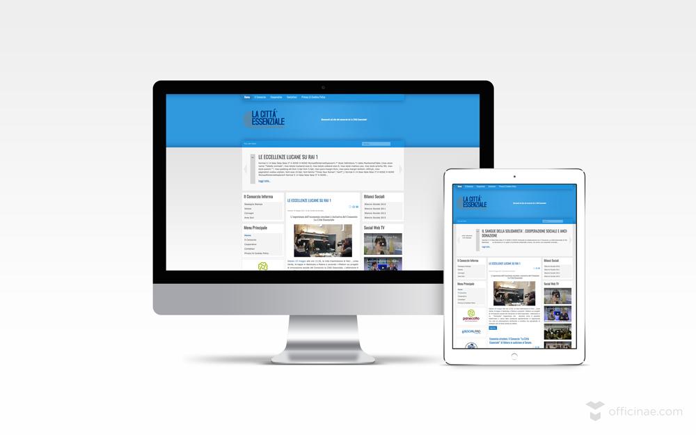 la città essenziale officinae agenzia lean digital marketing comunicazione matera milano sito web responsive