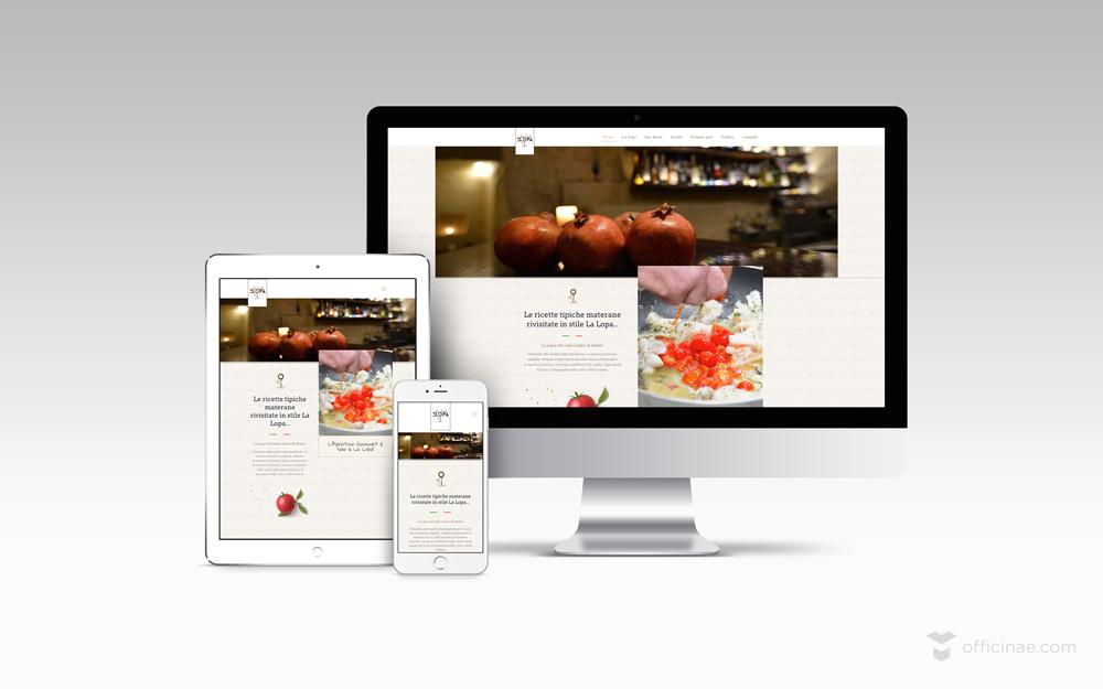 la lopa ristorante officinae agenzia lean digital marketing comunicazione matera milano sito web responsive