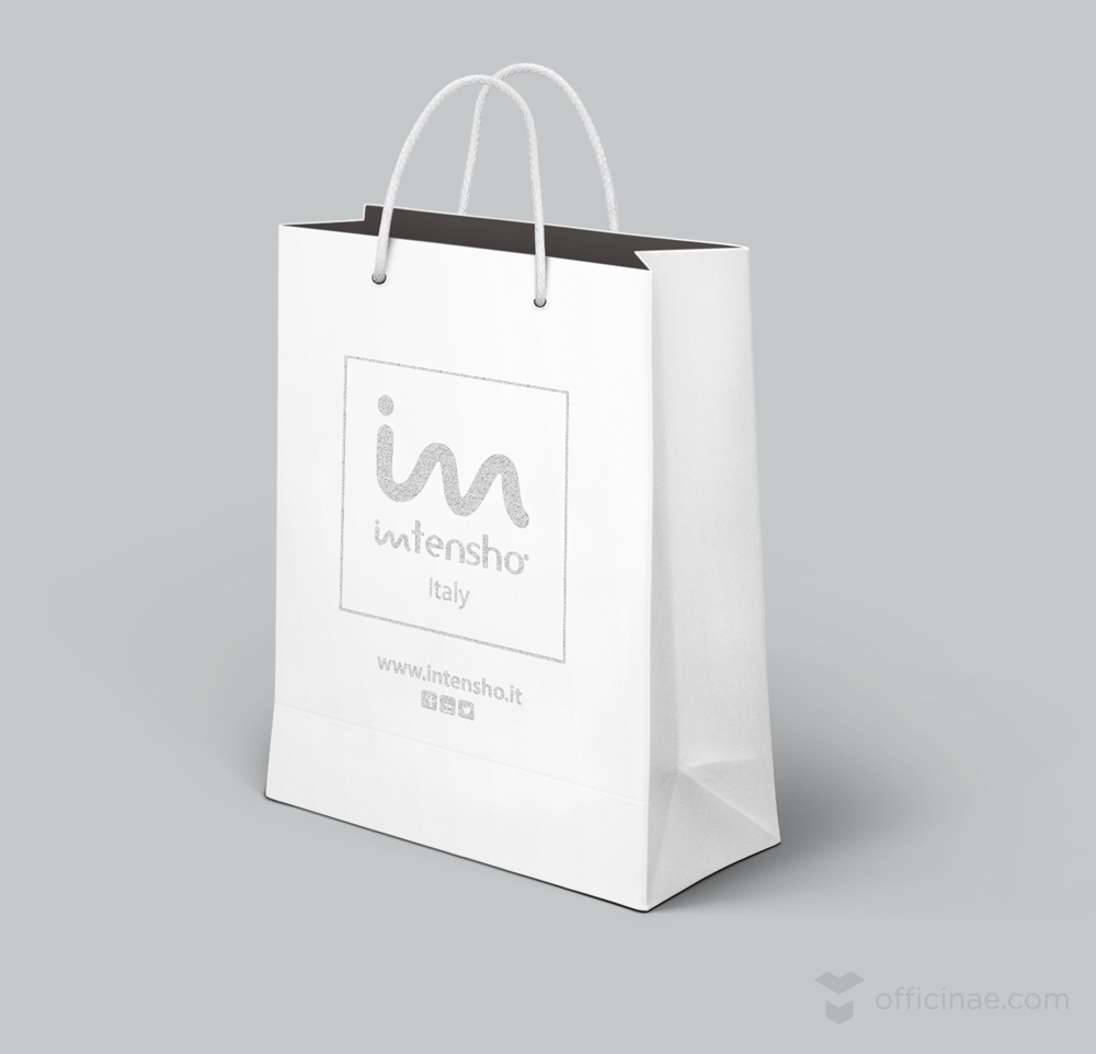 ntensho tecnoblend officinae agenzia lean digital marketing comunicazione matera milano shopping bag