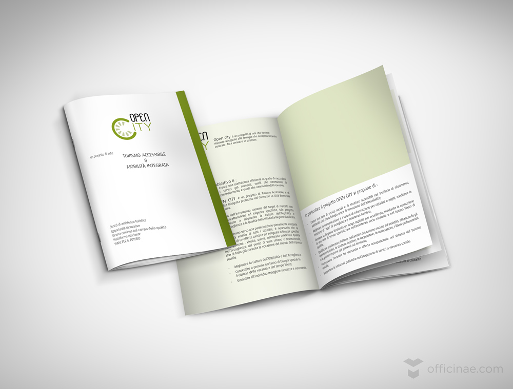 open city officinae agenzia lean digital marketing comunicazione matera milano brochure