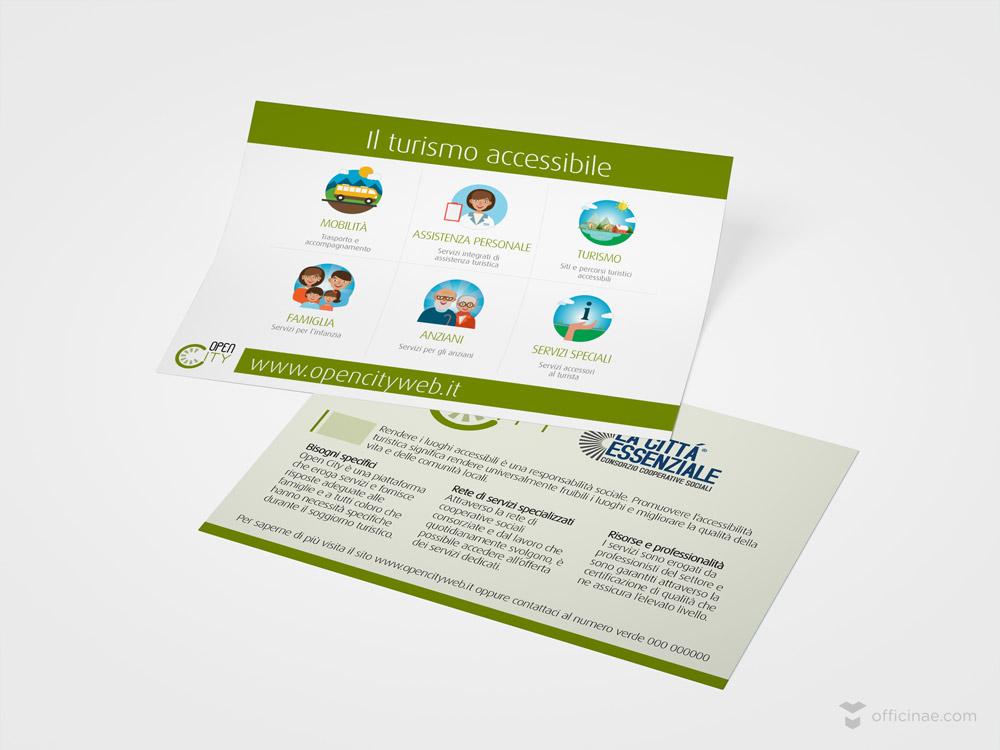 open city officinae agenzia lean digital marketing comunicazione matera milano volantini pubblicitari