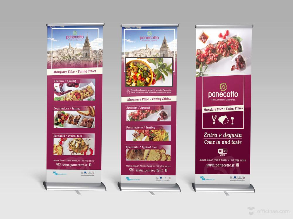 panecotto officinae agenzia lean digital marketing comunicazione matera milano roll up