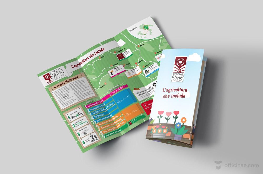 social farm officinae agenzia lean digital marketing comunicazione matera milano brochure