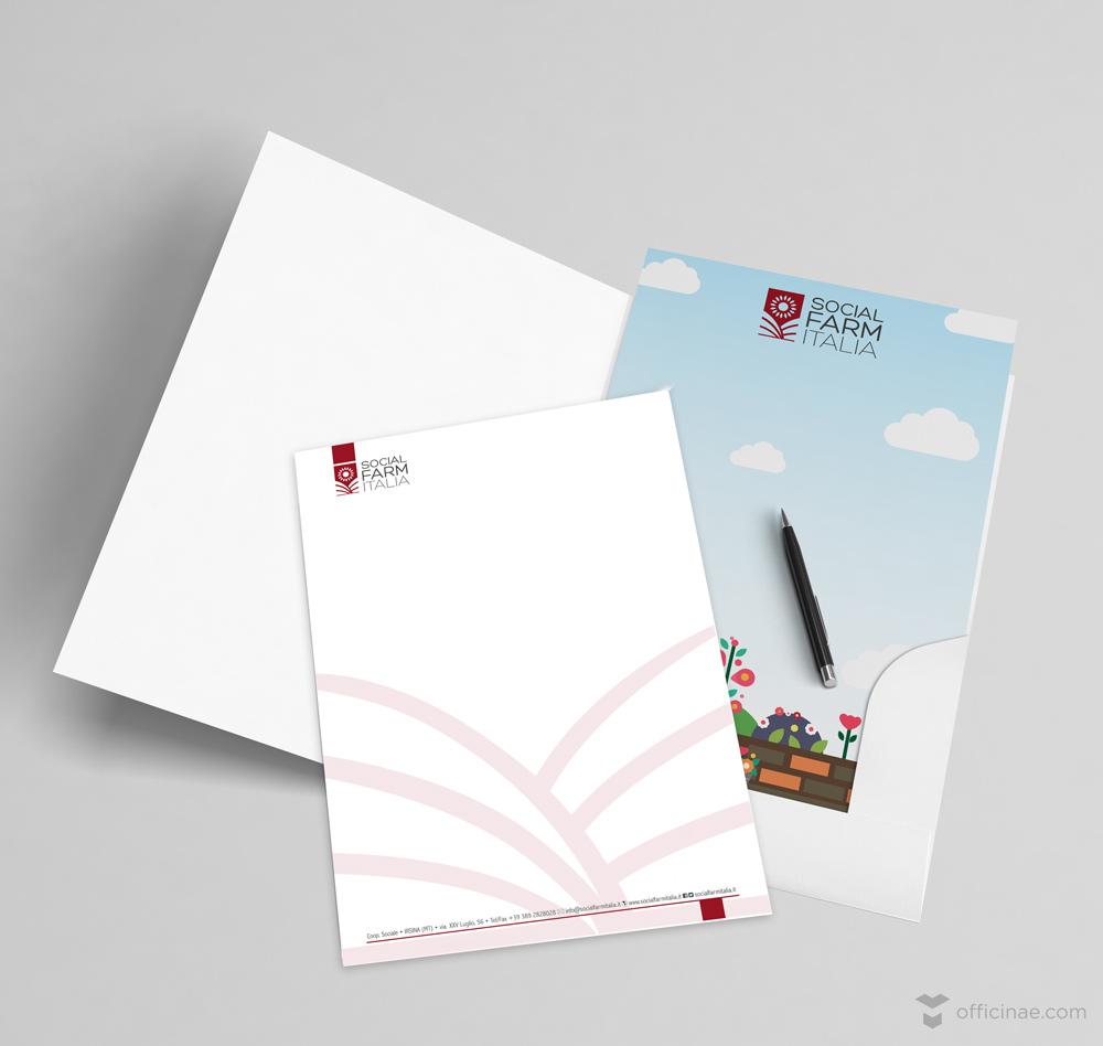 social farm officinae agenzia lean digital marketing comunicazione matera milano cartellina carta intestata