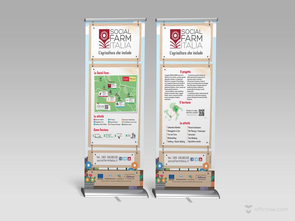 social farm officinae agenzia lean digital marketing comunicazione matera milano roll up