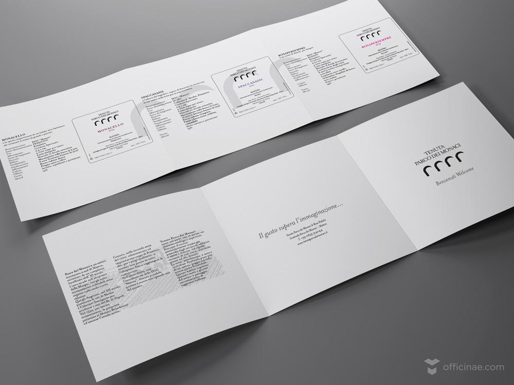 tenuta parco dei monaci vino officinae agenzia lean digital marketing comunicazione matera milano brochure