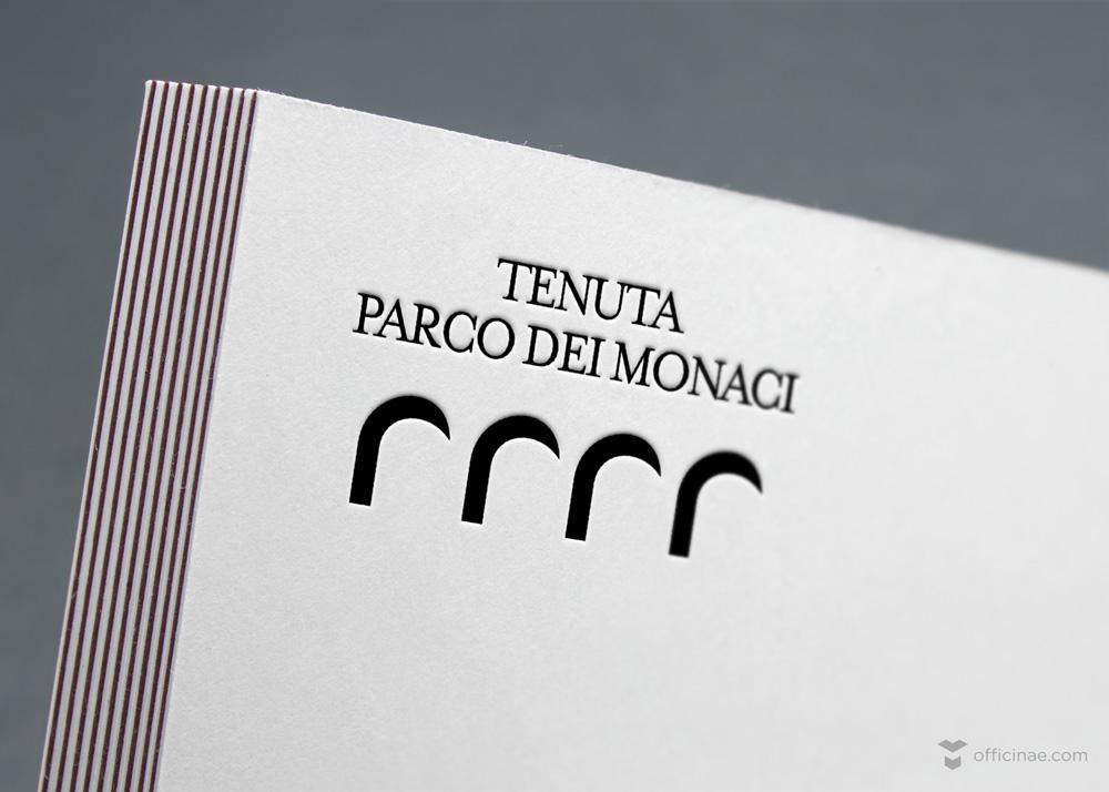 tenuta parco dei monaci vino officinae agenzia lean digital marketing comunicazione matera milano creazione logo design