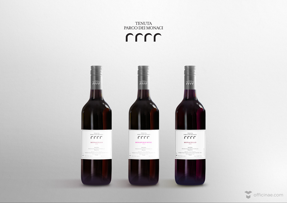 tenuta parco dei monaci vino officinae agenzia lean digital marketing comunicazione matera milano etichette