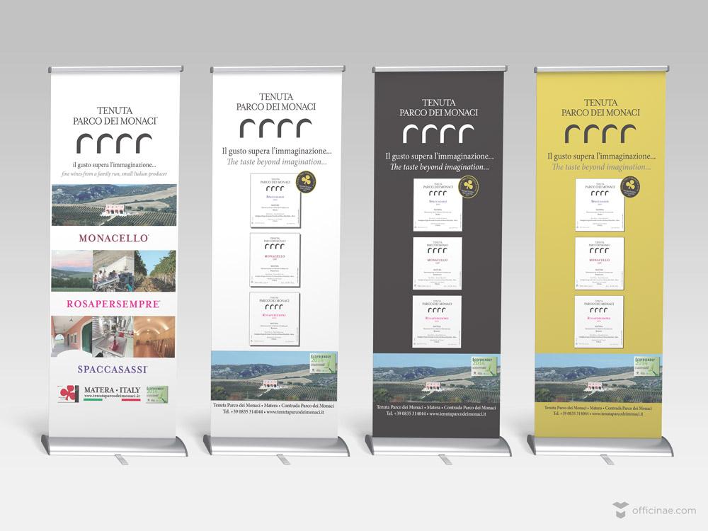 tenuta parco dei monaci vino officinae agenzia lean digital marketing comunicazione matera milano roll up