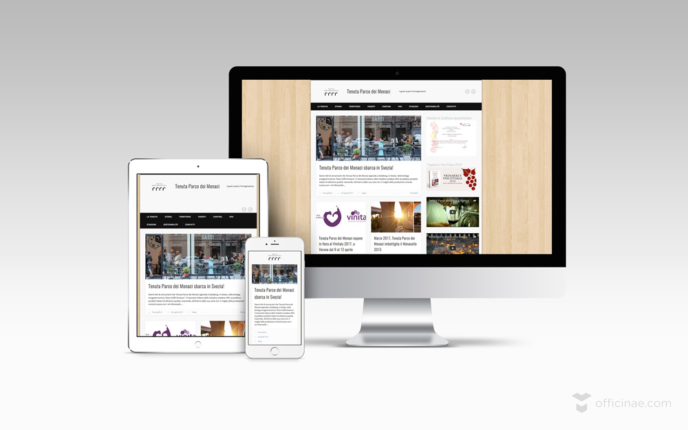 tenuta parco dei monaci vino officinae agenzia lean digital marketing comunicazione matera milano sito web responsive