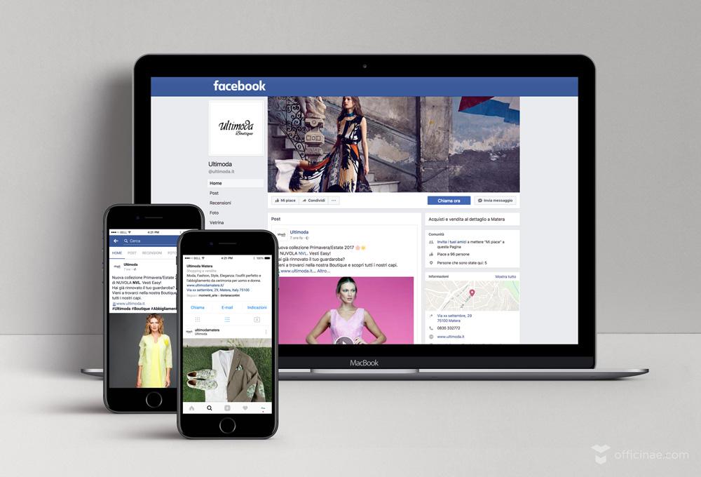 ultimoda boutique officinae agenzia lean digital marketing comunicazione matera milano creazione campagna social