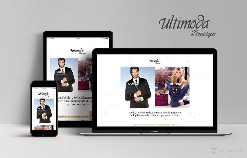 ultimoda boutique officinae agenzia lean digital marketing comunicazione matera milano creazione logo design
