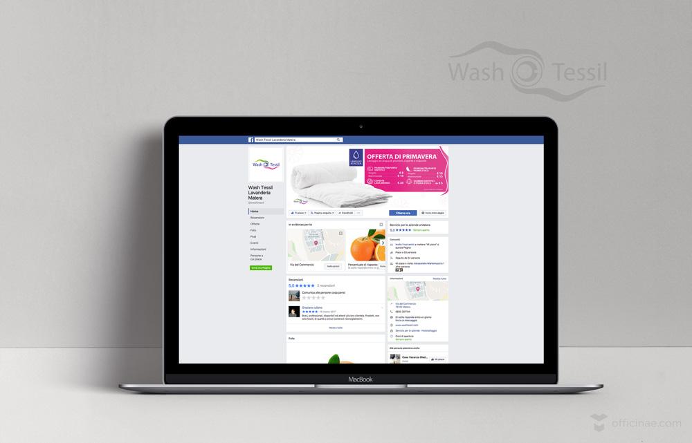 wash tessil lavanderia officinae agenzia lean digital marketing comunicazione matera milano capagna social