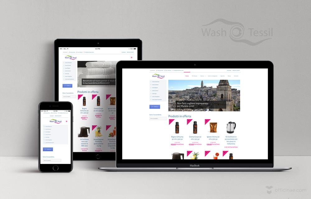 wash tessil lavanderia officinae agenzia lean digital marketing comunicazione matera milano sito web responsive