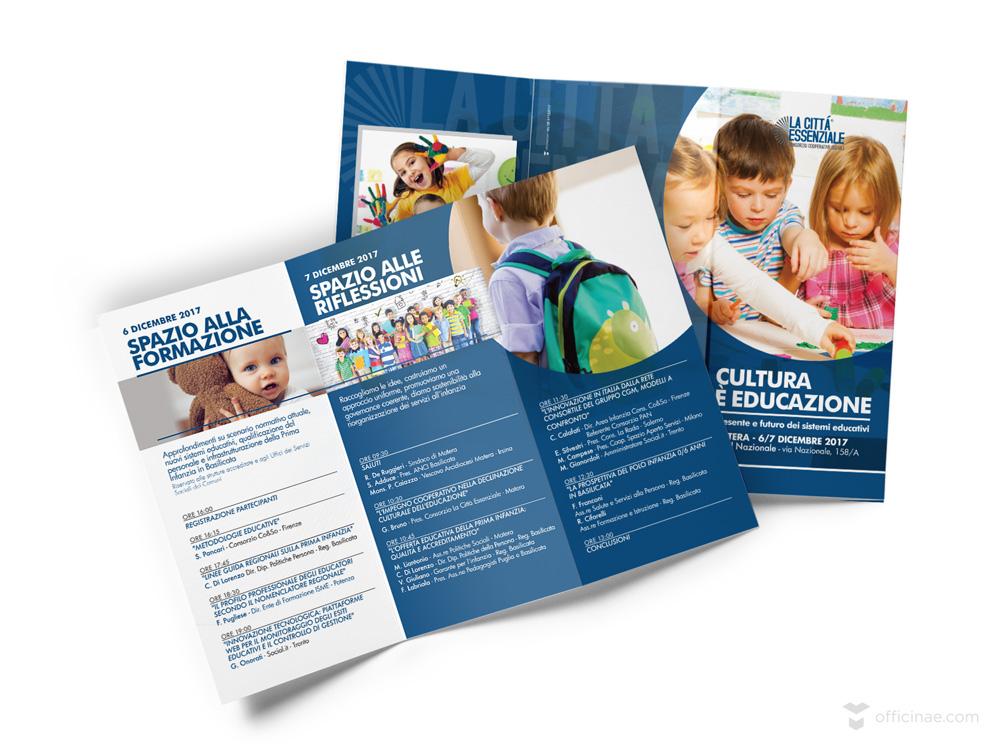 Cultura-è-Educazione-pieghevole-La-Città-Essenziale officinae-agenzia-lean-digital-marketing-management-campagne-social-comunicazione-school-formazione-matera-milano