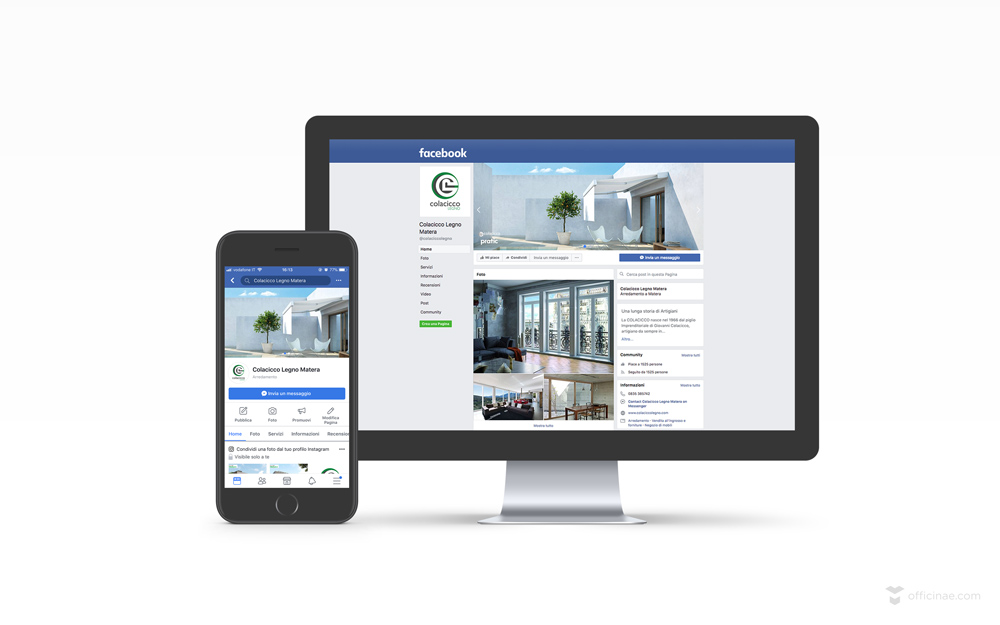 pagina facebook colacicco legno officinae-agenzia-lean-digital-marketing-management-campagne-social-comunicazione-school-formazione-matera-milano