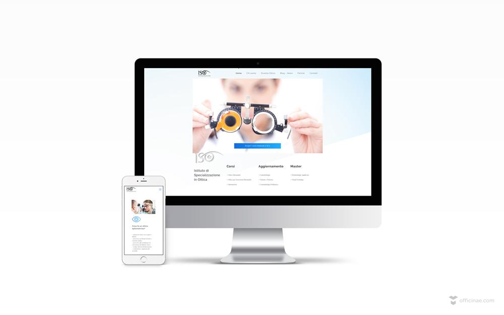 Sito-Template-Portfolio-iso istituto di specializzazione in ottica officinae-agenzia-lean-digital-marketing-management-campagne-social-comunicazione-school-formazione-matera-milano