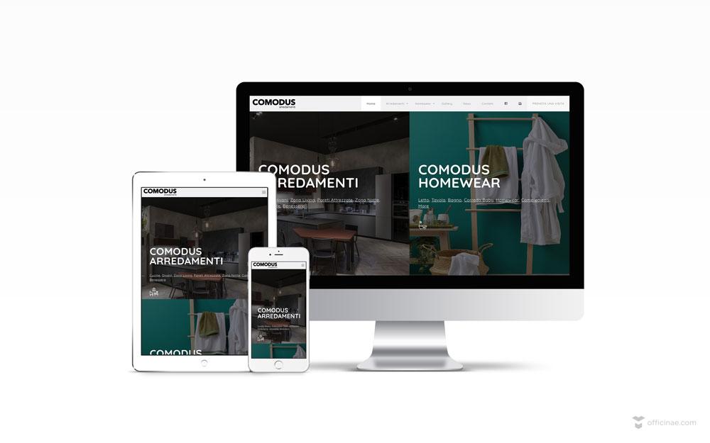 mockup-sito-web-comodus-arredamenti-officinae-agenzia-lean-digital-marketing-management-comunicazione-school-scuola-formazione-matera-basilicata-milano