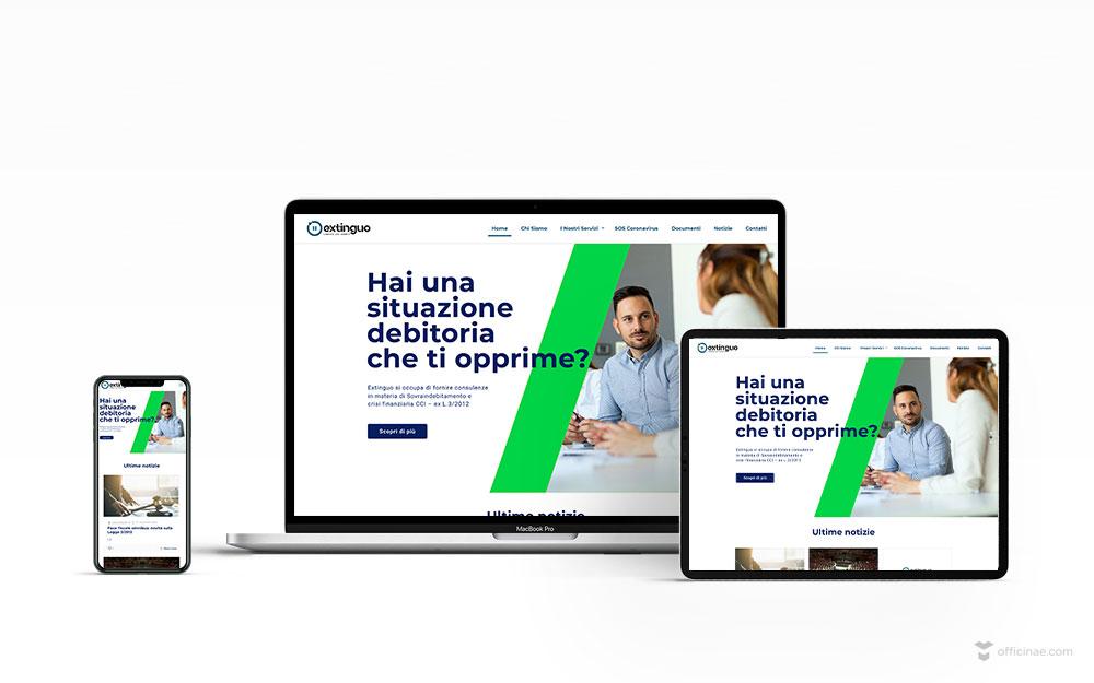mockup-sito-web-extinguo-officinae-agenzia-lean-digital-marketing-management-comunicazione-school-scuola-formazione-matera-basilicata-milano