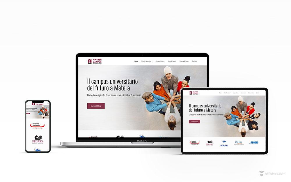 mockup-sito-web-mather-campus-officinae-agenzia-lean-digital-marketing-management-comunicazione-school-scuola-formazione-matera-basilicata-milano